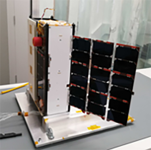 A photograph of the Faraday 1 satellite ready for launch - In-Space Missions