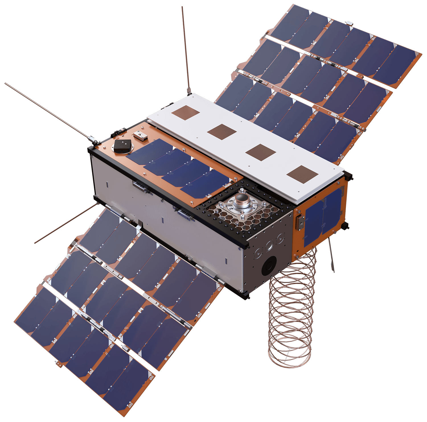 A 3D model of the Faraday Pheonix small sat including cube satellite hosted payloads - In-Space Mission