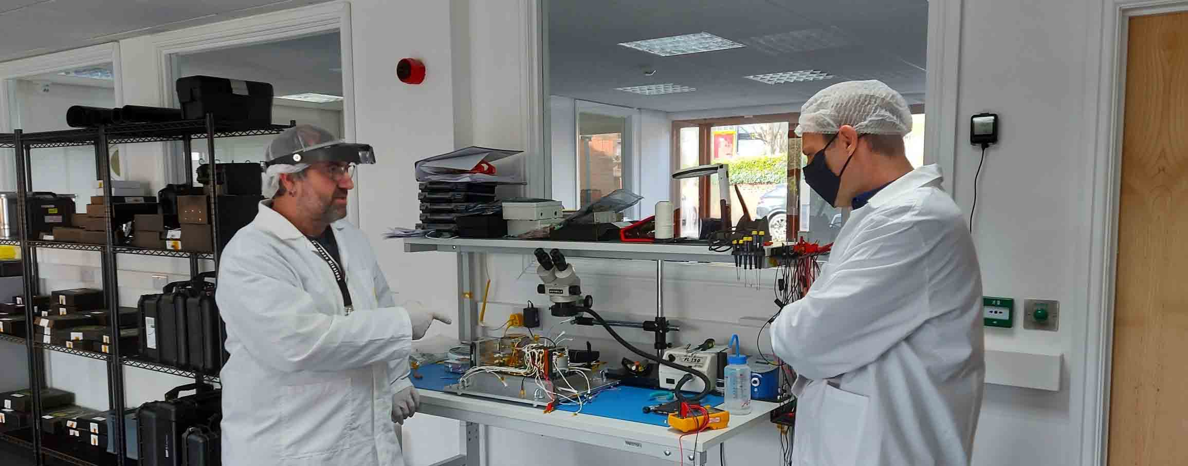 In-Space Missions Cleanroom - designing, building and operating bespoke physical and digital customer missions from Alton, Hampshire