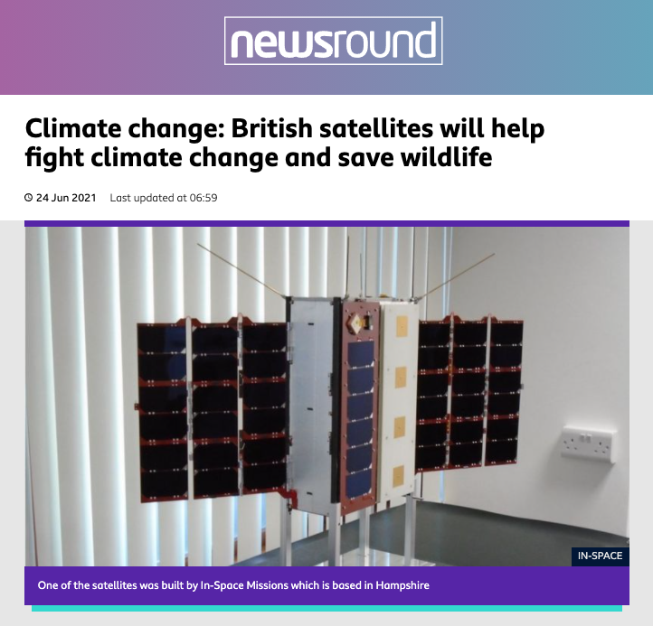 Faraday Pheonix features in BBC Newsround 24th June 2021