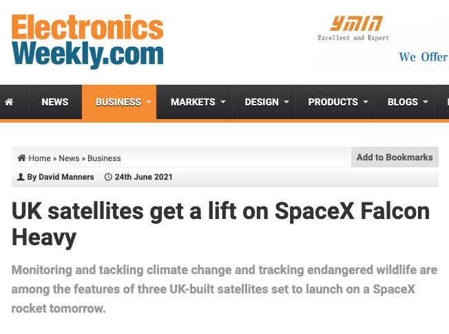 Faraday Pheonix features in Electronics Weekly 24th June 2021
